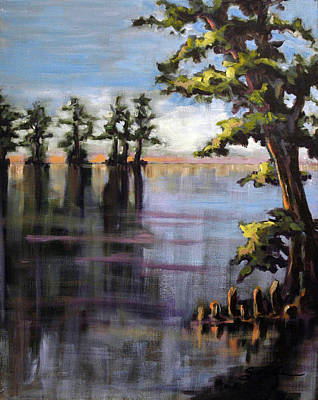 Painting - Cypress Sunrise by Suzanne McKee