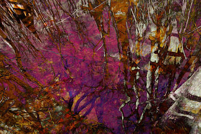 Digital Art - Cypress Swamp Abstract #2 by Alan Sherlock