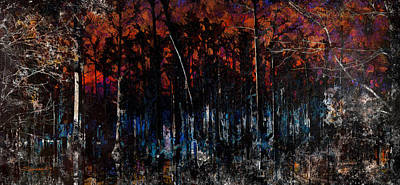 Cypress Swamp Abstract #1 Art Print