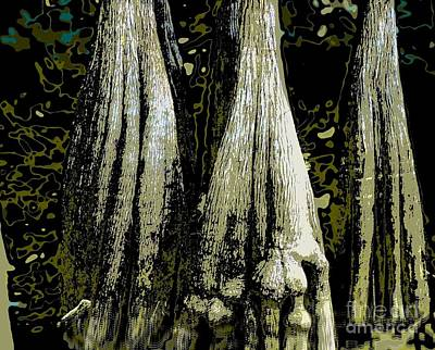 Photograph - Cypress Three by Sally Simon