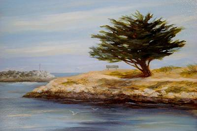 Cypress Tree Drawing - Cypress Tree At Marina Park #2 by Tina Obrien