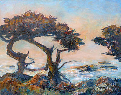 Painting - Cypress Tree Coast by Carolyn Jarvis