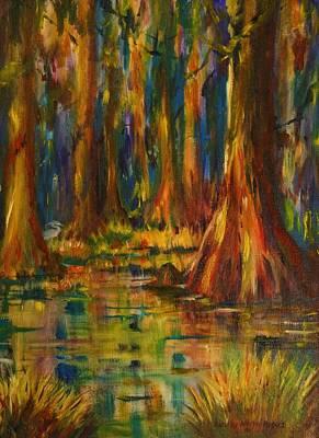Cypress Trees Art Print by Dorothy Allston Rogers