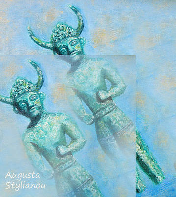 Painting - Cyprus Gods Of Trade. by Augusta Stylianou