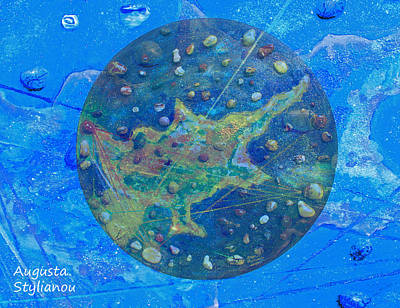 Planet Earth Mixed Media - Cyprus Planetary Map by Augusta Stylianou