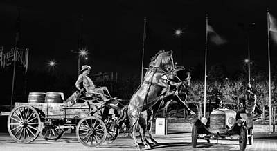 Horse And Cart Photograph - Cyrus Avery Centennial Plaza by JC Findley