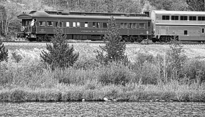 Photograph - Cyrus K  Holliday Private Rail Car Bw by James BO  Insogna