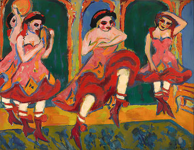 Mood Painting - Czardas Dancers by Mountain Dreams