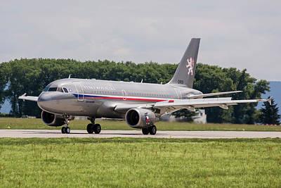 Photograph - Czech Air Force Airbus A319 by Timm Ziegenthaler