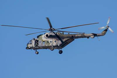Photograph - Czech Air Force Mi-171 With Door Gunner by Timm Ziegenthaler