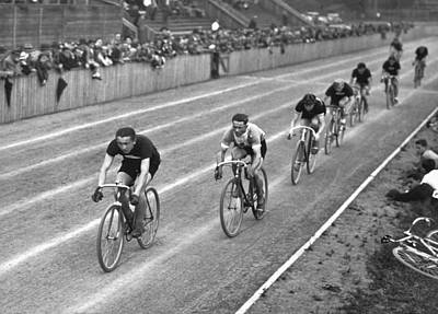 Bicycle Racing Photograph - Czech Bicycle Race by Underwood Archives