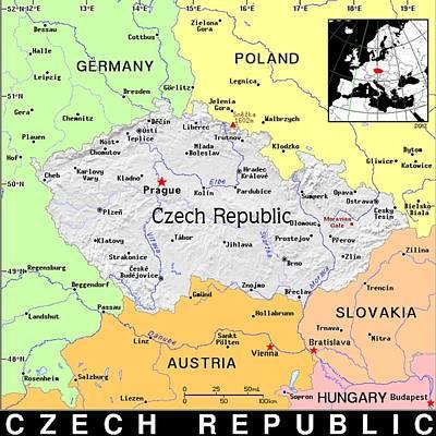 Czech Republic Mixed Media - Czech Republic by Florene Welebny