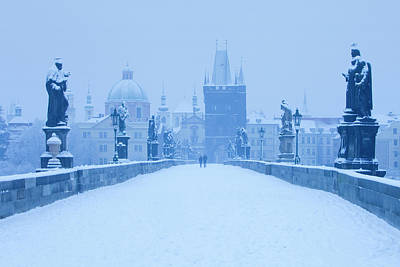 Prague Towers Photograph - Czech Republic, Prague - Charles Bridge by Panoramic Images