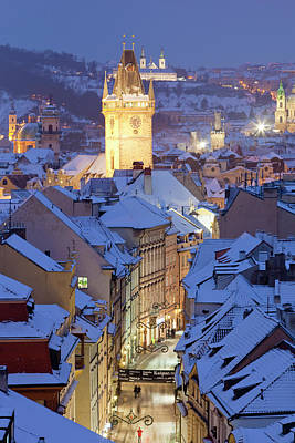 Prague Photograph - Czech Republic, Prague - Old Town Hall by Panoramic Images