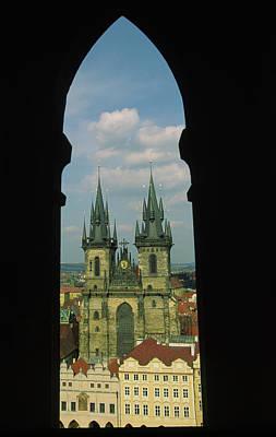 Czech Republic, Prague, View Of Tyn Art Print