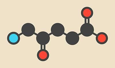 D-aminolevulinic Acid Drug Molecule Art Print
