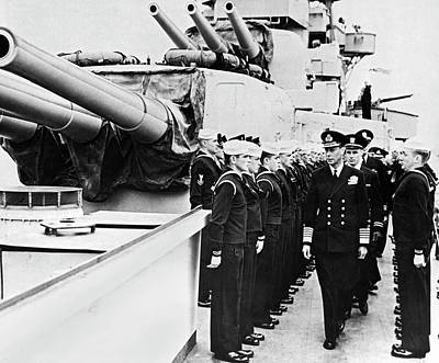 Photograph - D-day Inspection by Underwood Archives