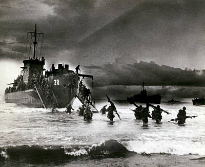 French Man-of-war Photograph - D-day Invasion by Underwood Archives