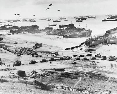 D-day Landings Beachhead Art Print
