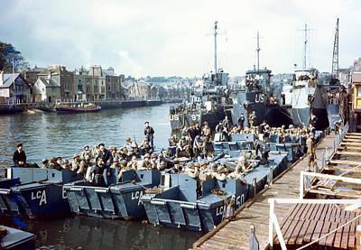 D-day Landings Preparations Print by Us Coast Guard