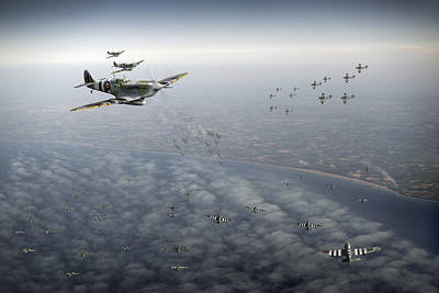 Digital Art - D-day Operation Mallard by Gary Eason
