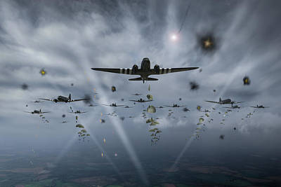 Photograph - D-day Paratroop Dakotas by Gary Eason
