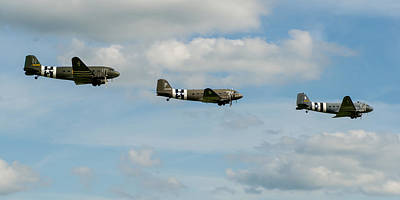 Photograph - D-day Skytrain Trio by Gary Eason