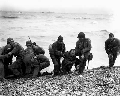 D-day Wounded Art Print