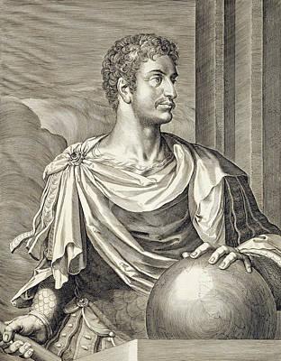 Caesar Augustus Drawing - D. Octavius Augustus Emperor Of Rome 27 by Titian