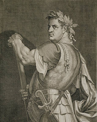 Caesar Drawing - D. Titus Vespasian Emperor Of Rome by Titian