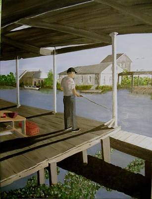 Painting - Da Camp At Bayou Segnette by June Holwell