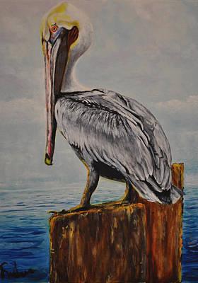 Pelikan Painting - Da Pelican by Ruben Barbosa