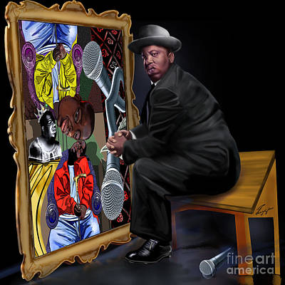 African-american Painting - Da Picasso N Biggie  by Reggie Duffie