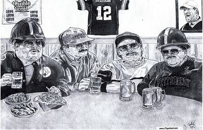 Steelers Drawing - Da Steelers by Jonathan Tooley