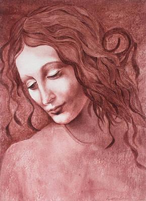 Painting - da Vinci La Scapigliata by Cory Calantropio