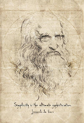 Da Vinci Quote Art Print by Taylan Apukovska