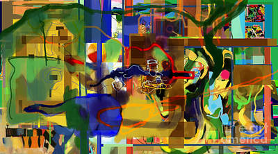 Inner Self Digital Art - Daas 1z by David Baruch Wolk