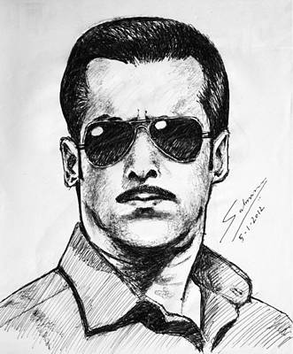 Salman Khan Art Print by Salman Ravish