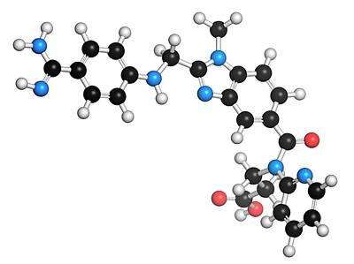 Dabigatran Anticoagulant Drug Molecule Art Print by Molekuul