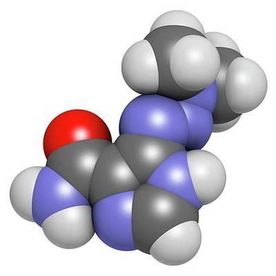 Molecule Photograph - Dacarbazine Cancer Drug Molecule by Molekuul