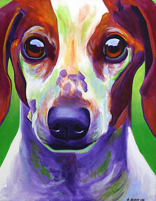 Dog Painting - Dachshund - Cooper by Alicia VanNoy Call