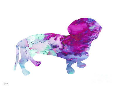 Painting - Dachshund 2 by Watercolor Girl