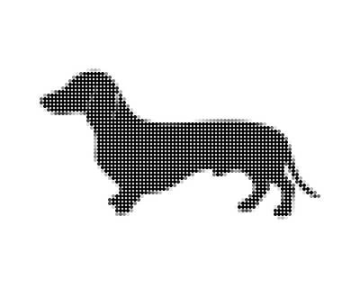 Dachshund Art Digital Art - Dachshund - Dot Portrait by Agus Shodikin