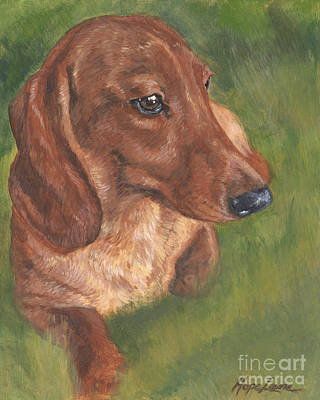 Dachshund Art Painting - Dachshund Love by Hope Lane