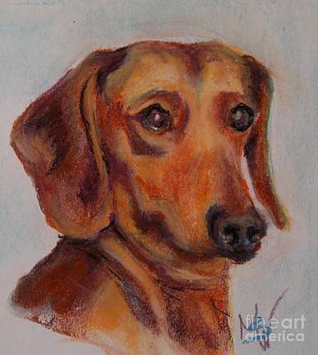 Pastel - Dachshund by Mindy Sue Werth