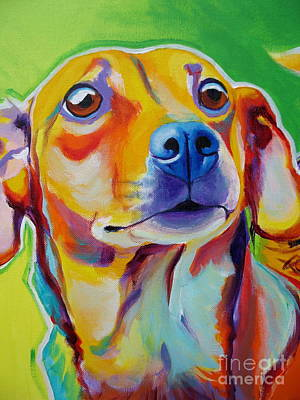 Chiweenie - Little Dog Print by Alicia VanNoy Call