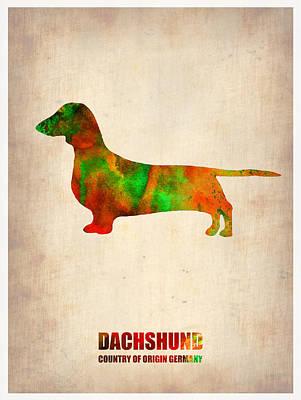 Dachshund Painting - Dachshund Poster 2 by Naxart Studio