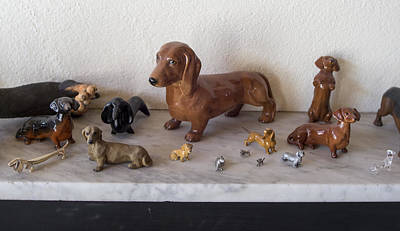 Photograph - Dachshund Statues by Steven Ralser
