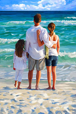 Painting - Dad And His Girls by Tim Gilliland