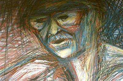 Drawing - Dad by Carrie Maurer
